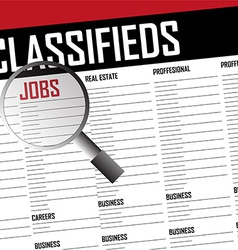 Job classifieds search vector