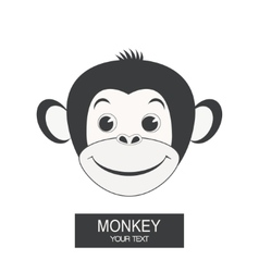 Label with a monkey vector