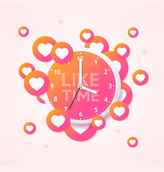 like time concept with realistic detailed 3d wall vector image