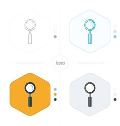 magnifying glass icons 4 design vector image