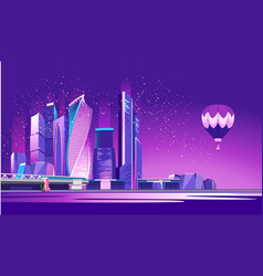 Moscow city neon vector