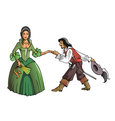 Musketeer and the Queen vector