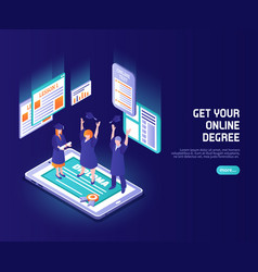 online lessons color background vector image
