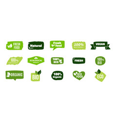 organic food banners trendy ecology concept eco vector image