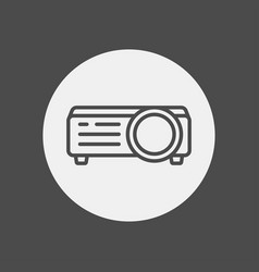 projector icon sign symbol vector image