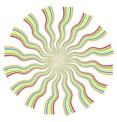 Psychedelic kaleidoscope spiral vector image