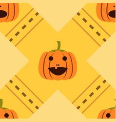 pumpkin seamless02 vector image