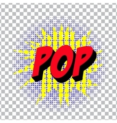 retro cartoon explosion pop art comic poop symbol vector image