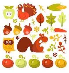 retro harvest design elements vector image