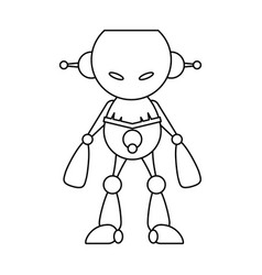 Robot toy cartoon vector