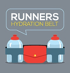 Runners Hydration Belt vector image vector image