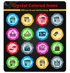 Shop icon set vector