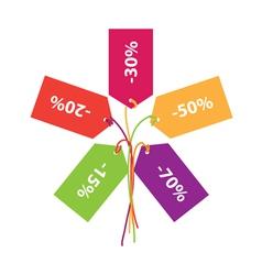 Sign of discounts sales vector