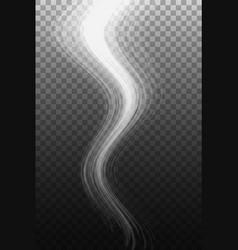 smoke wave on transparent background vector image