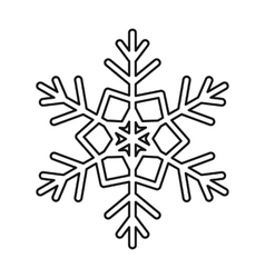 Snowflake icon outline style vector image