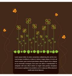 spring text frame vector image