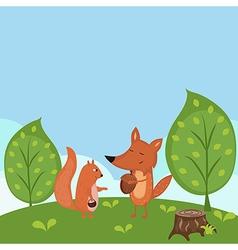 Summer forest background vector