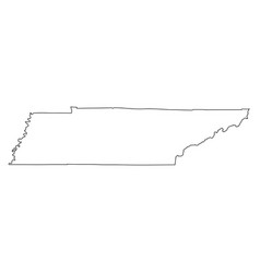 tennessee tn state border usa map outline vector image