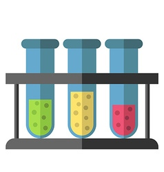 Test tubes rack isolated vector
