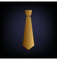 Tie sign Golden style icon vector