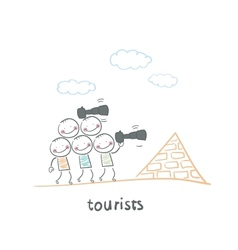 Tourists vector image