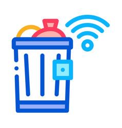 trash bin icon outline vector image