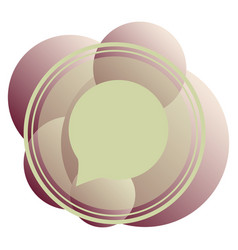 Typing in a chat bubble icon isolated comment vector