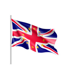 United kingdom national flag with a star circle of vector