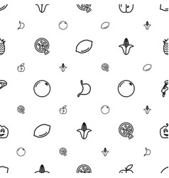 vegetarian icons pattern seamless white background vector image