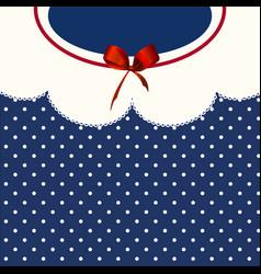 vintage blue polka-dot dress printable backround vector image