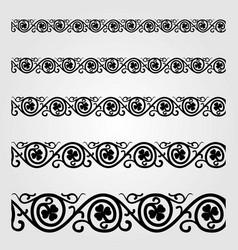 vintage design elements border vector image