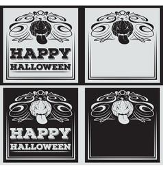 Vintage Happy Halloween greetings cards vector