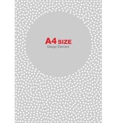 White gray dots circle frame background A4 size vector