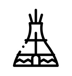wigwam icon outline vector image