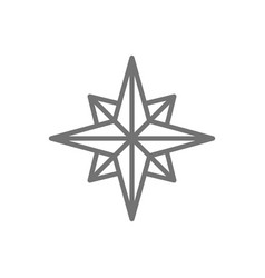 wind rose compass navigation line icon vector image