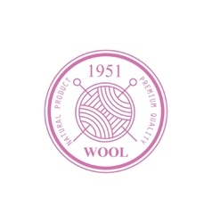 Wool Pink Product Logo Design vector image