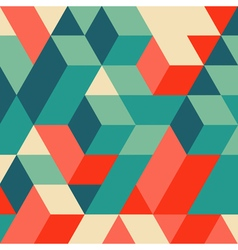 3d blocks structure background Geometric pattern vector image vector image