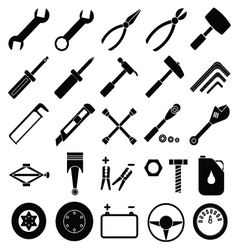 Auto Mechanic Tools set vector image