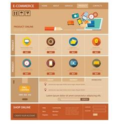 e-commerce website template flat design vector image