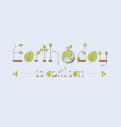 eco font thin line alphabet with green leaves vector image