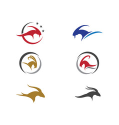 goat logo template vector image