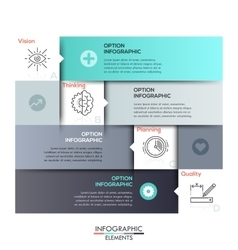 Modern Design Minimal style infographic template vector image