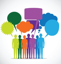 People colorful speech bubbles - vector