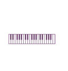 Piano keys musical instrument to play music vector