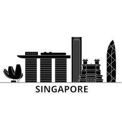 singapore architecture city skyline travel vector image