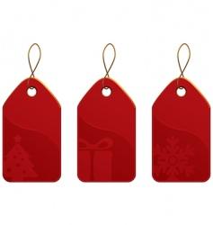 Christmas tag set vector image vector image