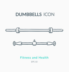 dumbbell icons on white background vector image vector image