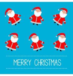 Funny cartoon Santas Blue background vector image