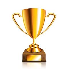 object golden trophy vector image