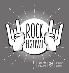 rock festival concert music event vector image
